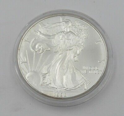 1998 Uncirculated 1 oz Silver American Eagle Coin In Capsule - Item# 9059