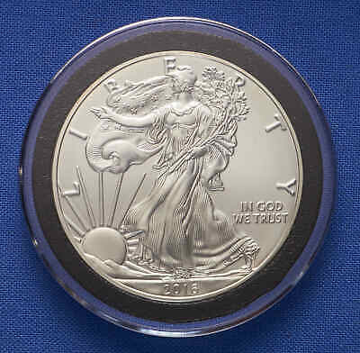 2016-W American Silver Eagle. Burnished. In protective capsule.