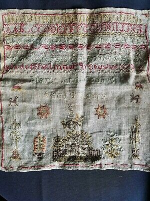 Antique/Victorian redwork sampler