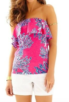 2f79ce9781ca4a New Lilly Pulitzer Wiley Capri Pink Samba Tube Tank Top Shirt Printed L  Large