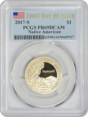 2017-S Sacagawea Native American Dollar PR69DCAM PCGS First Day of Issue FDOI