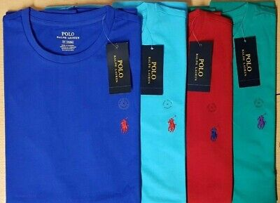 Men's Ralph Lauren crew neck Short Sleeve pure Cotton Tee-Shirts with colours