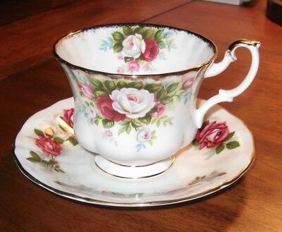 Royal Albert~Celebration~Teacup~Adderley Saucer~Miss Canada Rose~Made in England
