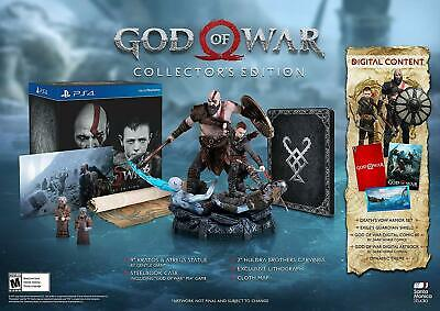 God of War Collector's Edition [Sony PlayStation 4 PS4 Statue Map Bonus Content]