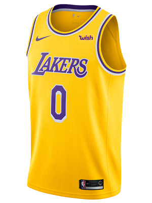 41d8337c118 Los Angeles Lakers - Kyle Kuzma Nike Gold Wish Logo Swingman Jersey Icon  Edition