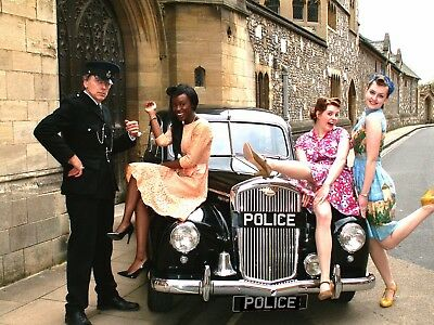 WEDDING car hire.Vintage Classic POLICE car 1950 FILM Hire.Classic PROM car limo