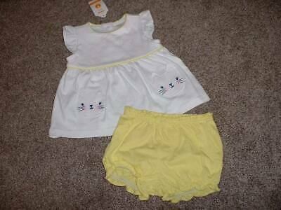 Gymboree Baby Girls Meow & Roar Outfit Set Kitty Size 6-12 months mos NWT Summer