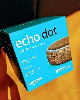 Amazon Echo Dot - Alexa - Charcoal Fabric - Brand New
