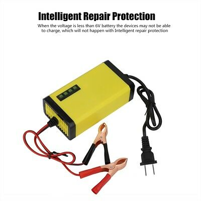 12V 2A Auto Motorcycle Car Battery Charger Power Display Intelligent Protection