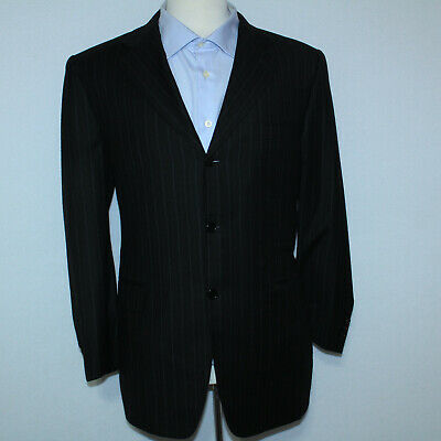 GORGEOUS CANALI PROPOSTA BLACK PINSTRIPED 2-PIECE LUXURY WOOL SUIT 50 / 34x29
