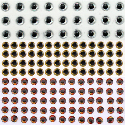 100/200/500Pcs 3-8mm Fishing Lures 3D Holographic Eyes Fly Tying Jigs Craft Doll