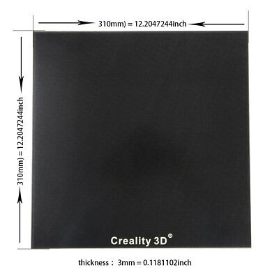 Creality CR-10/10S 3D Printer Removable Borosilicate Glass Bed Plate 310x310mm