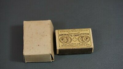 1930's Antique German DRGM Sakerhets Tandstickor Matchbox Prank Tricky Tin Toy