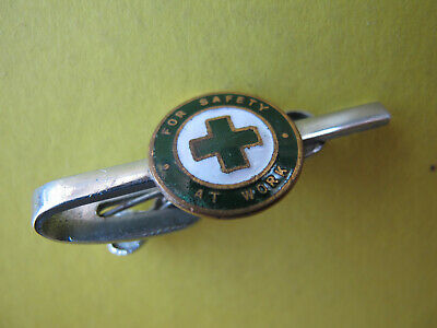 For Safety at Work Green Enamel Badge