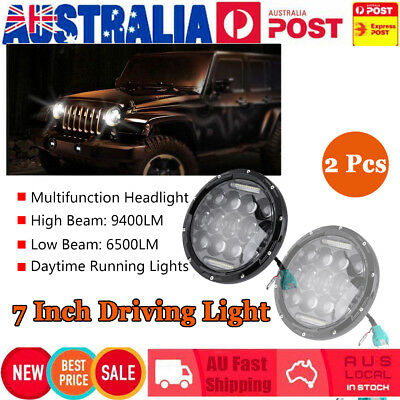 2x 7inch 156W High-Low Beam Round 4x4 Headlight Offroad Truck LED Driving Light