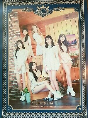 "K-POP GFRIEND 2ND ALBUM Official ""Time for us"" Limited Ver Poster /  Free Ship"