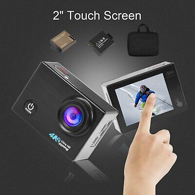 4K Wifi Action Camera LCD Touch Screen 20MP Sony Sensor Waterproof 40M For Gopro