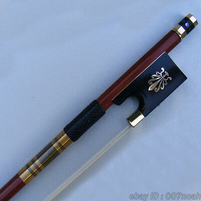 Professional Pernambuco 4/4 Violin Bow Gold Mounted Ebony Frog With Peafowl Bows