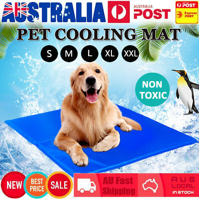 Pet Cool Cooling Gel Mat Dog Cat Bed Non-Toxic Dog Summer Pad 5 Sizes FAST POST