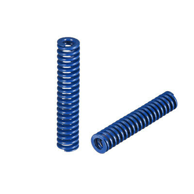 8x40mm Long Spiral Stamping Light Load Compression Mould Die Spring Blue 2Pcs
