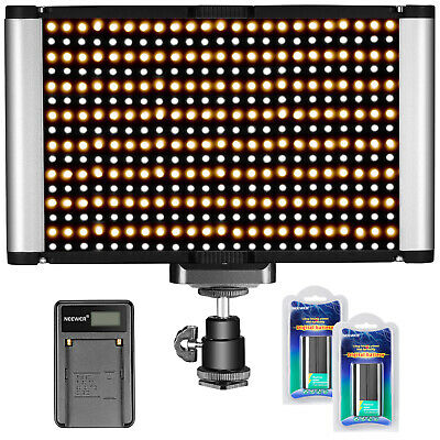 Neewer Kit Regulable Bi-color LED Luz de Vídeo en Cámara 280 LED Bombillas