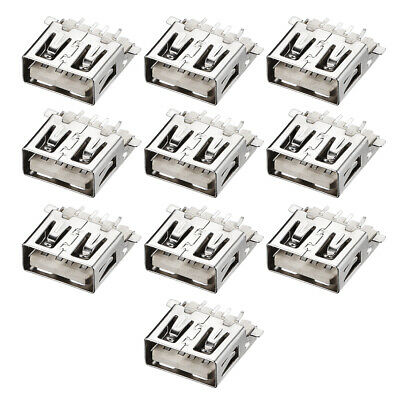 PCB USB Connector Type-A Female Jack 180 Degree SMT SMD 10Pcs