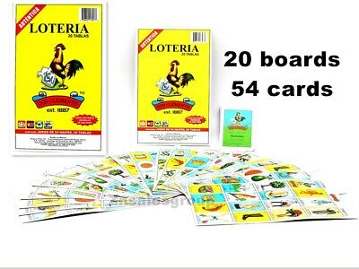 Loteria 20 Different Boards 1 Deck 54 Cards Mexican Bingo Authentic Don Clemente