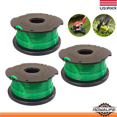 3 PACK SF-080 Auto Feed String Trimmer Spool Line Replacement for