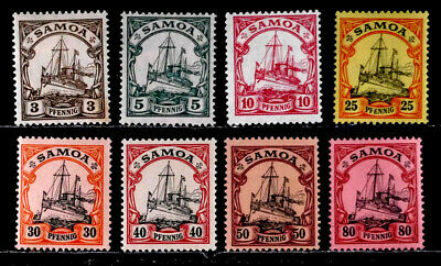 Samoa, Germany: 1900 - 15 Classic Era Stamp Collection Unused With Never Hinged