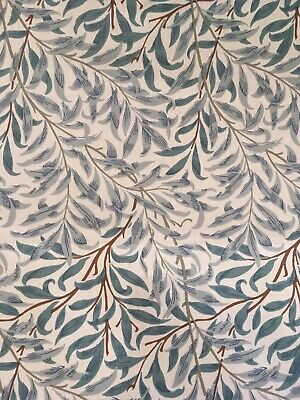 WILLIAM MORRIS CURTAIN FABRIC Willow Bough's Minor 10metres CREAM / PALE GREEN