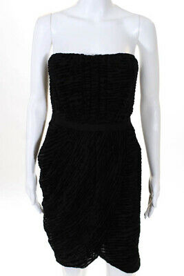 81fab7304bb3 Giambattista Valli x Impulse Black Velvet Empire Strapless Dress Size 10 New