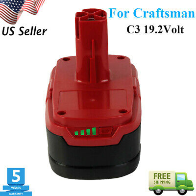4.0Ah C3 Lithium XCP Battery For Craftsman 19.2 Volt 11375 11376 130279005 P2011