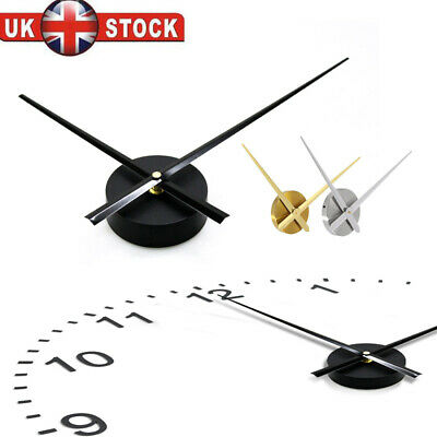 Large Silent Quartz Wall Clock Movement DIY Hands BK GD SL Mechanism Repair Tool