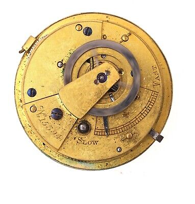 English Verge Fusee Pocket Watch Movement For Repair H139