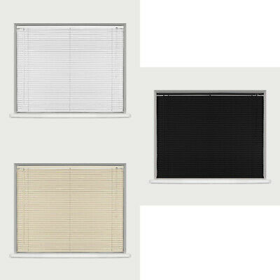 Easy Fit PVC Trimable Venetian Window Blinds All Sizes For Home Office