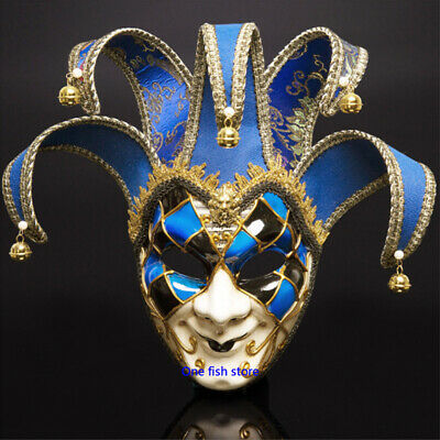 Party  Costume Ball Mask Venice Italy Full Face Anti-Ancient Clown King Mask