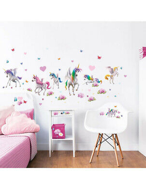 Magical Unicorns Wall Stickers, Pack of 71