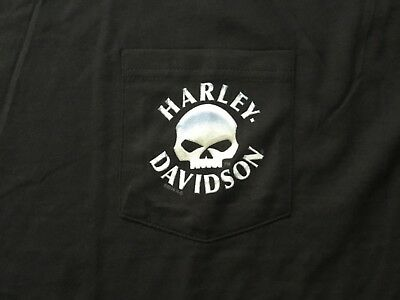 e2056aa6 Harley Davidson Willie G. Skull Front Pocket Black Shirt Nwt Men's XL