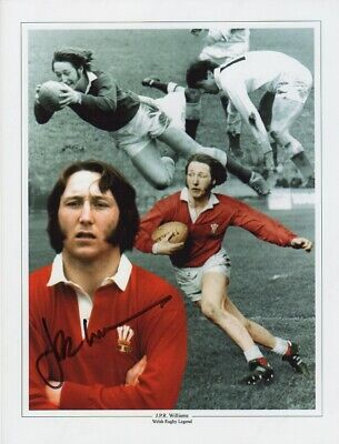 J P R Williams Wales Rugby Legend Authentic Signed 12 X 9 Inch Montage With Coa
