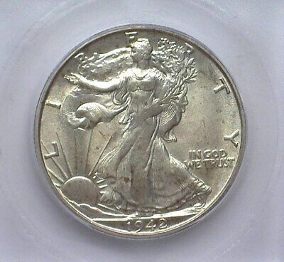 1942-S Walking Liberty Silver 50 Cents  Icg Ms65 Lists For $275!