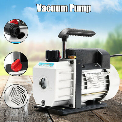 3CFM 1/4 HP Vacuum Pump Air Conditioning Single Stage Refrigeration Rotary Vane