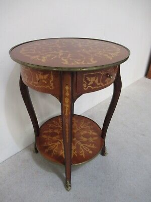 Antique Design French Inlaid Console Table Hall Table Superb Marquetry Inlaid