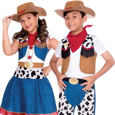 Cowboy Kids Fancy Dress Cowgirl Wild Western Boys Girls World Book Day Costumes