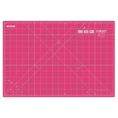 "OLFA Cutting Mat RM-IC-C/Pink 18"" X 12"" (450mm x 300mm) Fabric Leather Paper"