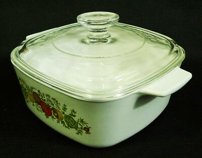 Corning Ware Spice of Life A-1-1/2-B 1.5L Casserole Dish with Pyrex Glass Lid