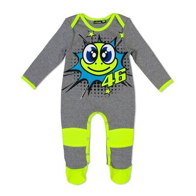 New - VR46 2019 Valentino Rossi Baby Overall/Baby Grow - Turtle Grey 12 Month