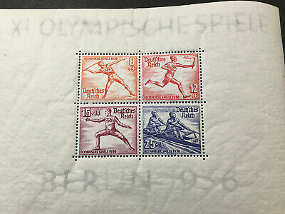 Germany Stamps B92MH See backs 1936 Olympics