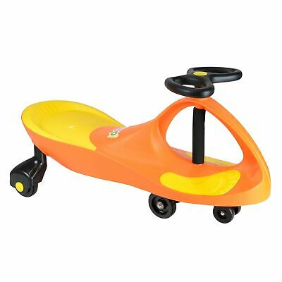 boppi Bright Orange Wiggle Swing Car Ride On Swivel Scooter Gyro Twist & Go Kids