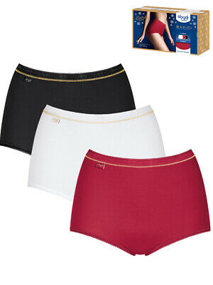 *3 Pack* Sloggi Basic+ Maxi Holiday 95% Cotton Brief 10194232 Soft Knickers