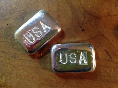 1 Oz Hand Poured 999 Silver Bullion Bar, USA, by VPM B30